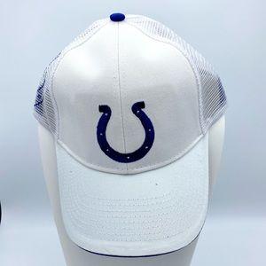 NWOT NFL Indianapolis Colts White Blue Mesh Cap